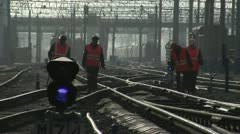 Railroad workers Stock Footage