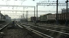 rail, locomotive, train - stock footage