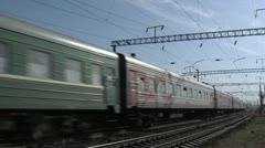 Passenger cars, railroad, Stock Footage