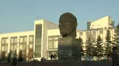 A monument to Lenin Stock Footage