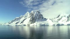 landscape in antarctica, with mountains - stock footage