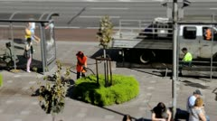City Communal Service in Summer (tilt-shift time-lapse) Stock Footage