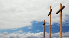 Cross And Clouds Timelapse 02 Loop Stock Footage