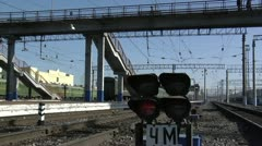 Railroad traffic light Stock Footage