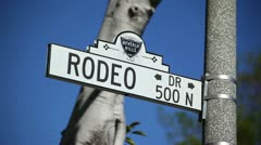 Rodeo Drive Sign 02 HD Stock Footage