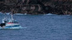 Fishing boat, Brittany, France (1) Stock Footage