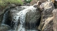 Stock Video Footage of Waterfall in the garden