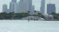 Jet ski in Miami Bay HD Stock Footage