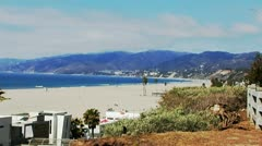 Santa Monica Beach & Malibu Coastline Stock Footage