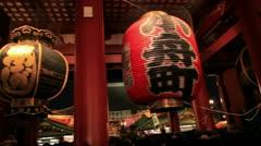 Asakusa Sensoji Kannon Temple, Tokyo, Japan Stock Footage