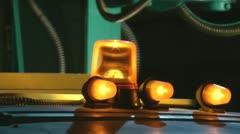 Flashing yellow light Stock Footage