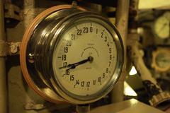Aboard submarine  Stock Photos