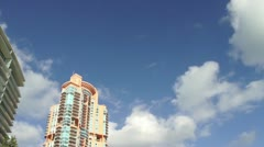 Portofino and South Pointe Park in SoBe HD Stock Footage