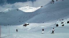 Three Valleys Skiing Stock Footage