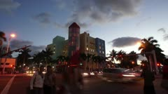 China Grill in South Beach HD Stock Footage