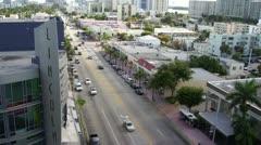 Miami Beach Alton Road Time Lapse HD Stock Footage