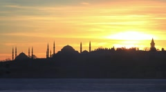 Sunrise in Istanbul; Timelapse Stock Footage