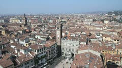 Verona skyline Stock Footage