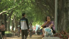 Women in park in guangzhou, china Stock Footage