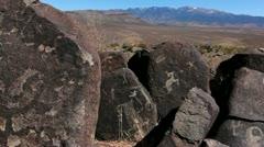 Petroglyph Scenic Stock Footage