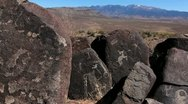 Stock Video Footage of Petroglyph Scenic