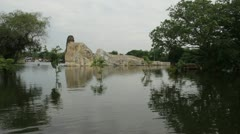 Thailand Flood Ayutthaya 9798 Stock Footage