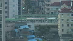 Car traffic on Yan An West elevator road Stock Footage