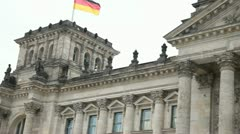 German Parliament (Bundestag / Reichstag) Stock Footage