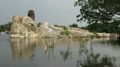 Thailand Flood Ayutthaya 9814 Stock Footage