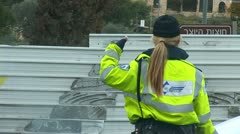 Police woman Stock Footage