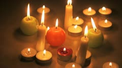 Candles, FullHD - stock footage