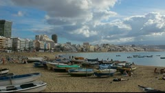 Beach of the Canteras Stock Footage