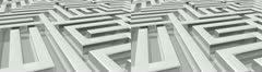Maze stereoscopic 3D Stock Footage