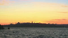 Historical Istanbul Skyline Stock Footage