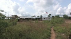 Liberian School House Stock Footage
