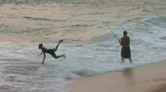 Liberia - Surf and Fishers 02 Stock Footage