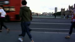 239 Time lapse, human traffic on a London bridge Stock Footage