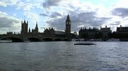 Stock Video Footage of 241 River Thames London
