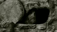 Empty tomb Stock Footage