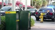 Police in South Beach Stock Footage