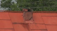 Stock Video Footage of House brick chimney