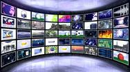 Monitor room 6 Stock Footage
