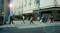 Pedestrians. 3D Pedestrians.  - stock footage