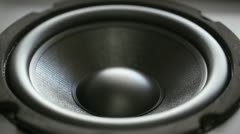 Thumping Bass Audio Speaker Stock Footage