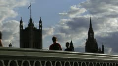 242 time lapse, Westminster bridge Stock Footage