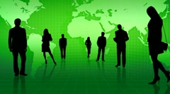 Business People Silhouettes HD Stock Footage