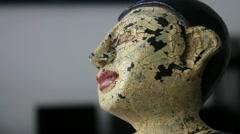 Focus Shift to Antique Thai Statue Stock Footage