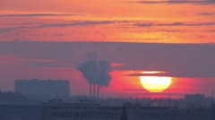 Industrial sunset Stock Footage