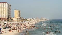 Pensacola Beach Spring Break Stock Footage
