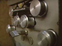 Stock Video Footage of film projector showing a celluloid movie